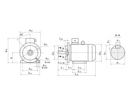 Электродвигатель АД 180 M6 18,5 кВт. 1000 об/мин производитель Сибэлектромотор