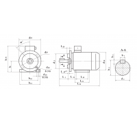 Электродвигатель АД 71 А8 0,18 кВт. 750 об/мин