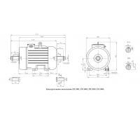 Электродвигатель  4МТКН 132 LA6 5,5 кВт. 900 об/мин