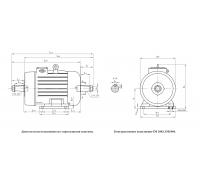Электродвигатель  МТКН 411-8 15 кВт. 705 об/мин