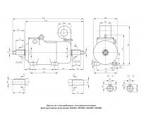 Электродвигатель 4МТКМ Ф2П 200 LA8 2,6||15||15 кВт. 130||735||1470 об/мин